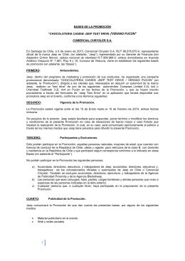 """BASES DE LA PROMOCIÓN """"CHOCOLATERIA CASSIS/ JEEP"""