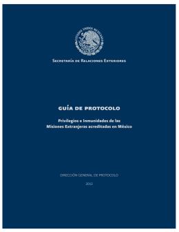 capítulo i acreditación - Secretaría de Relaciones Exteriores