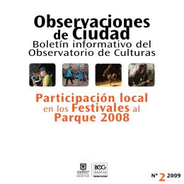 Participación local en los Festivales al Parque 2008