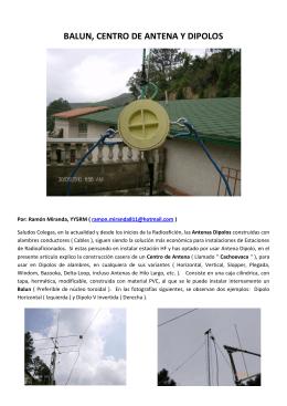 BALUN, CENTRO DE ANTENA Y DIPOLOS