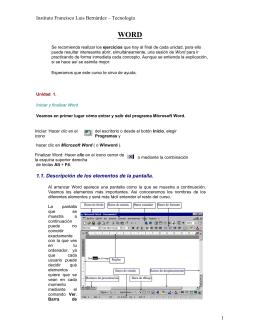 Instituto Francisco Luis Bernárdez – Tecnología 1.1. Descripción de