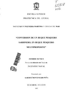 """""""CONVERSION DE UN BUQUE PESQUERO SARDINERO, EN"""