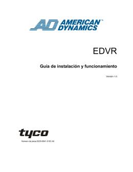 Guía de instalación y funcionamiento