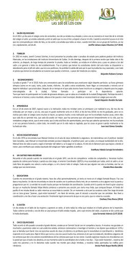 LAS 100 DE LOS CIEN - Instituto Universitario de Caldas