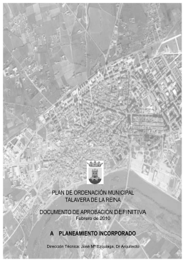 PLAN DE ORDENACIÓN MUNICIPAL TALAVERA DE LA