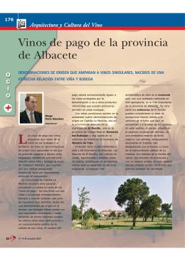 Vinos de pago de la provincia de Albacete