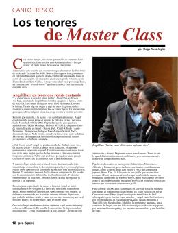 de Master Class Los tenores