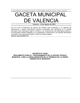 Decreto Nº - Alcaldía de Valencia