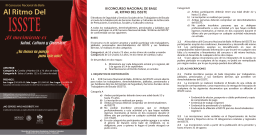 lll Concurso Nacional de Baile Al Ritmo del ISSSTE