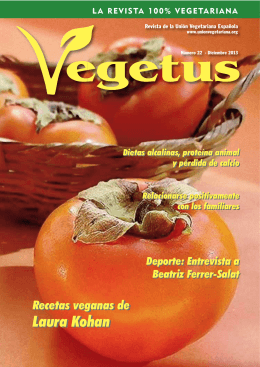 Descarga en PDF la revista Vegetus nº 22