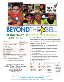 Beyond the Bell provides: Fall 2015 – 2016 Rates