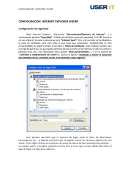CONFIGURACION INTERNET EXPLORER W3ERP
