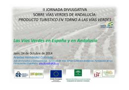 Las Vías Verdes en España y en Andalucía