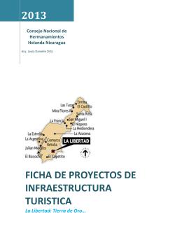 Ficha de proyectos de infraestructura turistica