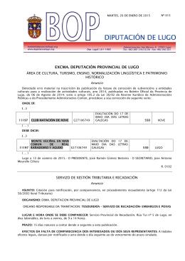 EXCMA. DEPUTACIÓN PROVINCIAL DE LUGO