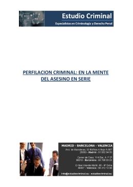 PERFILACION CRIMINAL: EN LA MENTE DEL ASESINO EN SERIE