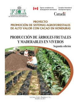 Producción de árboles frutales y maderables en viveros