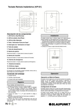 Teclado Remoto Inalámbrico (KP-S1)
