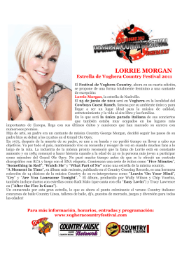LORRIE MORGAN - Voghera Country Festival