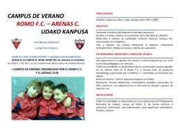 CAMPUS DE VERANO ROMO F.C. – ARENAS