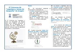 """5º Concurso de """"Logotipos y lemas de Geografía"""""""