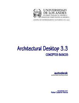Achitectural Desktop 3.3 - Conceptos básicos