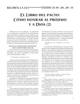 8 El Libro del pacto- Como honrar al prójimo y a Dios, 2