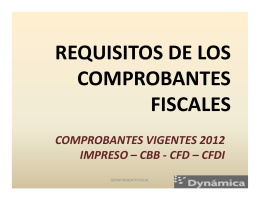 REQUISITOS DE LOS COMPROBANTES FISCALES