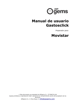 Manual de usuario Gastosclick Movistar