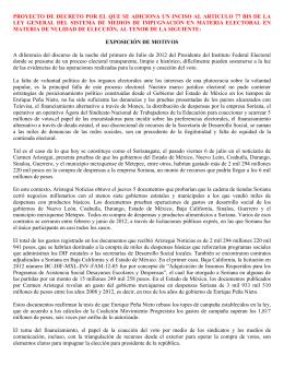 proyecto de decreto por el que se adiciona un inciso al articulo 77