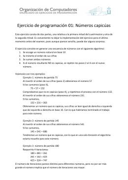 Ejercicio de programación 01: Números capicúas