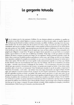 La garganta tatuada - Revista de la Universidad de México