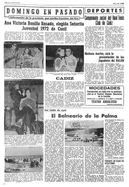 Ana Victoria Bónillo Rosado, elegida señorita Juventud 1972 de Conil