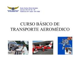 CURSO BÁSICO DE TRANSPORTE AEROMÉDICO