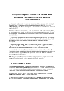 Participación Argentina en New York Fashion Week
