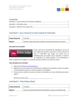 Contenido Actividad 1 - Juez virtual de la Universidad de Valladolid