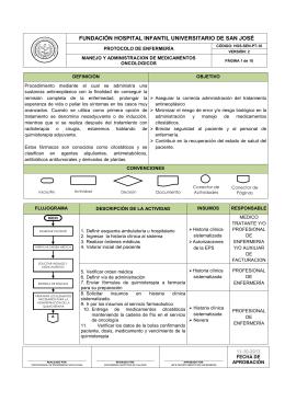 protocolo manejo y administracion de medicamentos oncologicos