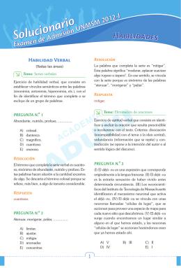examen de admision unmsm 2012-i solucionario