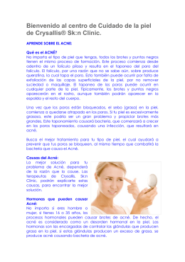 Bienvenido al centro de Cuidado de la piel de Crysallis