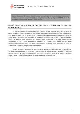 acta en formato pdf - Ayuntamiento de Valencia