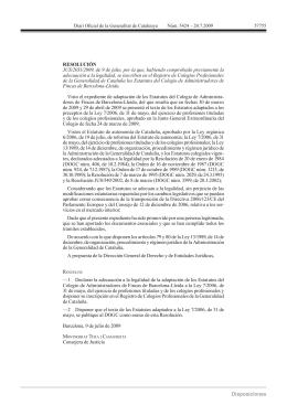 estatutos del colegio de administradores de fincas de barcelona