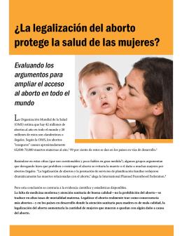 ¿La legalización del aborto protege la salud de las mujeres?