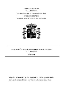 Sumario - Recopilación doctrina jurisprudencial