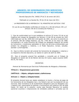 Decreto 36562-JP sobre honorarios profesionales de abogados