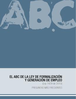 el abc de la ley de formalización y generación de empleo