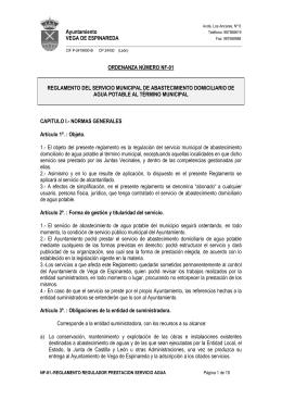 Ayuntamiento VEGA DE ESPINAREDA ORDENANZA NÚMERO NF