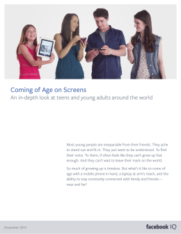 Coming of Age on Screens