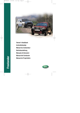 Freelander 02MY Manual del Conductor - Spa