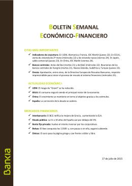 BOLETíN SEMANAL ECONÓMICO-FINANCIERO