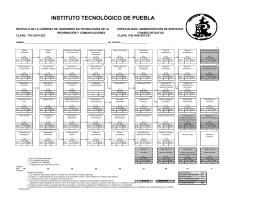 Ingeniería en TIC - Instituto Tecnológico de Puebla
